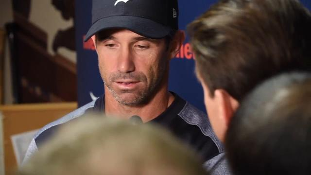 Tigers manager Brad Ausmus talks about Tigers pitching and hot-hitting Andrew Romine.