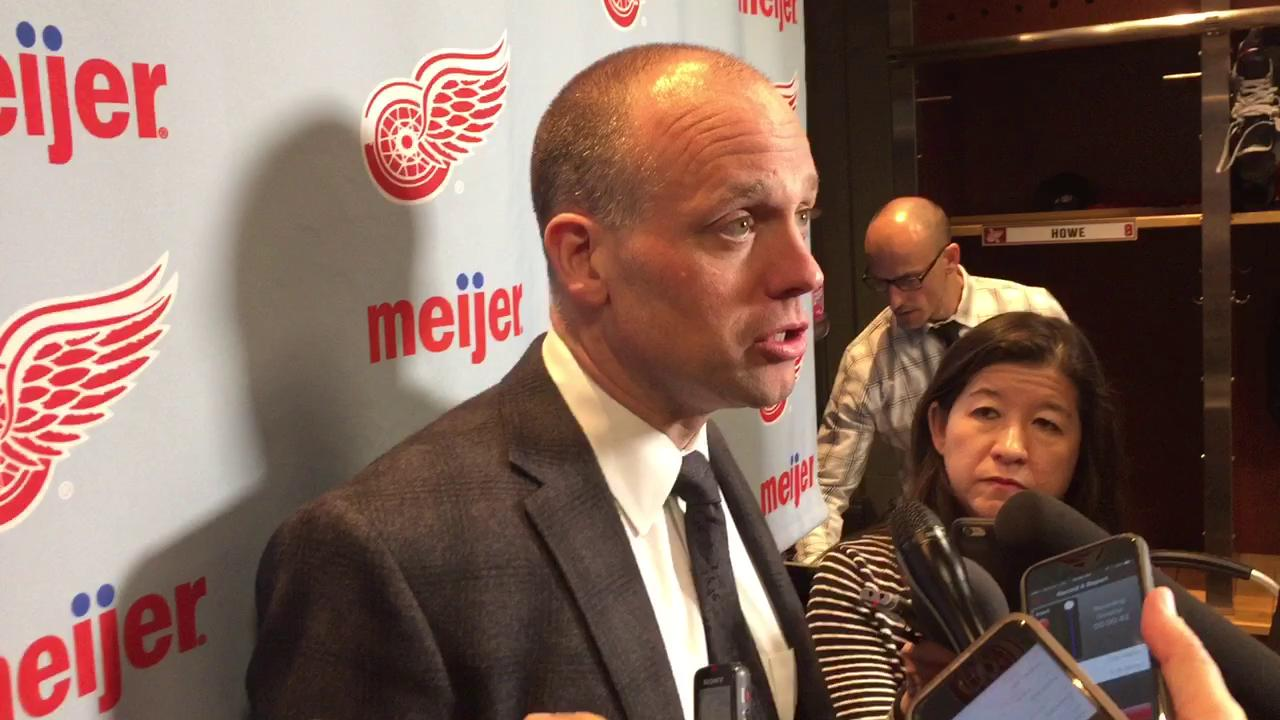 Coach Jeff Blashill on the Red Wings' 5-4 loss to Toronto.