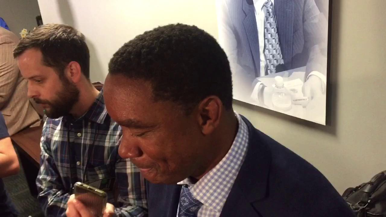 Former Piston Isiah Thomas talks about his feelings as the Palace hosts its final game
