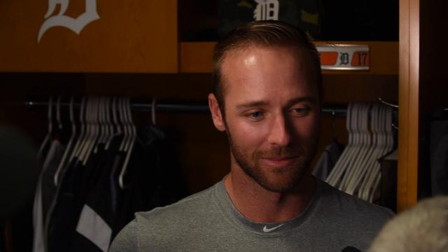 Tigers' Andrew Romine on being tied with his father in career grand slams. Andrew didn't know his dad, former Red Sox outfielder Kevin Romine had ever hit one in the majors. It was the last of his five career homers.