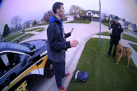 Macomb County Sheriff's officers arrest Daniel Soper, 28,  on Aspen Drive in Macomb Twp. after receiving reports of vehicle break-ins.  A canine unit found him running through the backyards of homes.