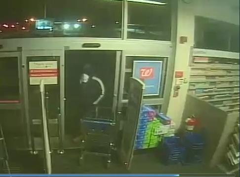 Surveillance footage of Walgreens break-in