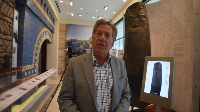 Chaldean Cultural Center chairman Francis Boji gives a tour of the new Chaldean Cultural Center Museum in West Bloomfield Township, opening May 2.