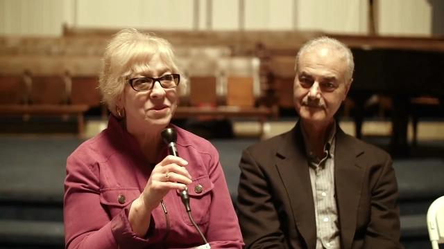 Elaine and Mark Schonberger were married at Temple Beth El in Detroit in 1973, when the Jewish congregation was moving to Bloomfield Hills.  They recently revisited the building for the first time in 44 years.