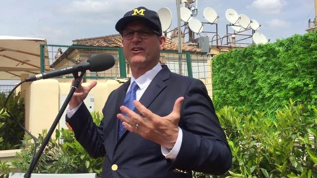 Jim Harbaugh: 'Very emotional' to meet the pope
