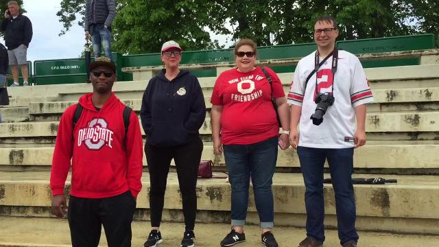 Ohio State fans hit Michigan practice
