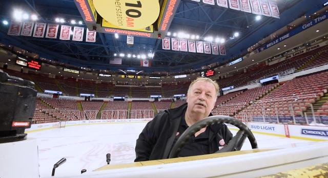 The building manager and Zamboni driver walks through Joe Louis Arena with Detroit News columnist Bob Wojnowski.
