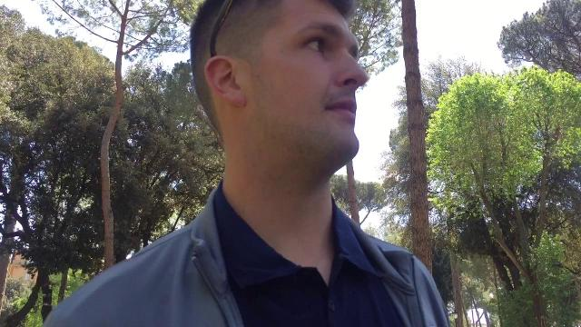 Wilton Speight on Day 1 in Italy