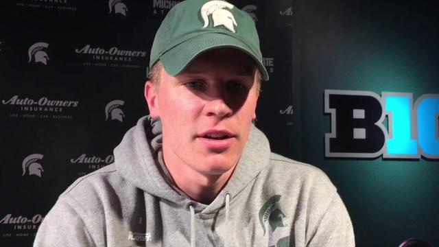 MSU's Brian Lewerke on his progress