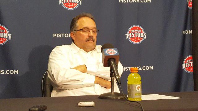 Pistons coach Stan Van Gundy discusses his team's loss to the Raptors.