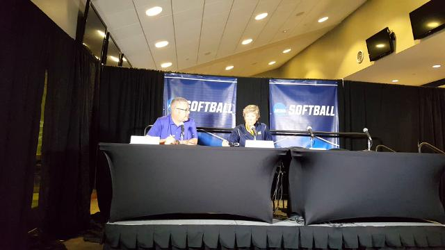 Michigan coach Carol Hutchins talks about Michigan's win over Fresno State following the loss to Washington on Saturday in the NCAA tournament.