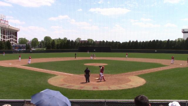 Eastern Michigan hitter goes on 4-for-6 tear, belting three home runs with a double and 9 RBIs.