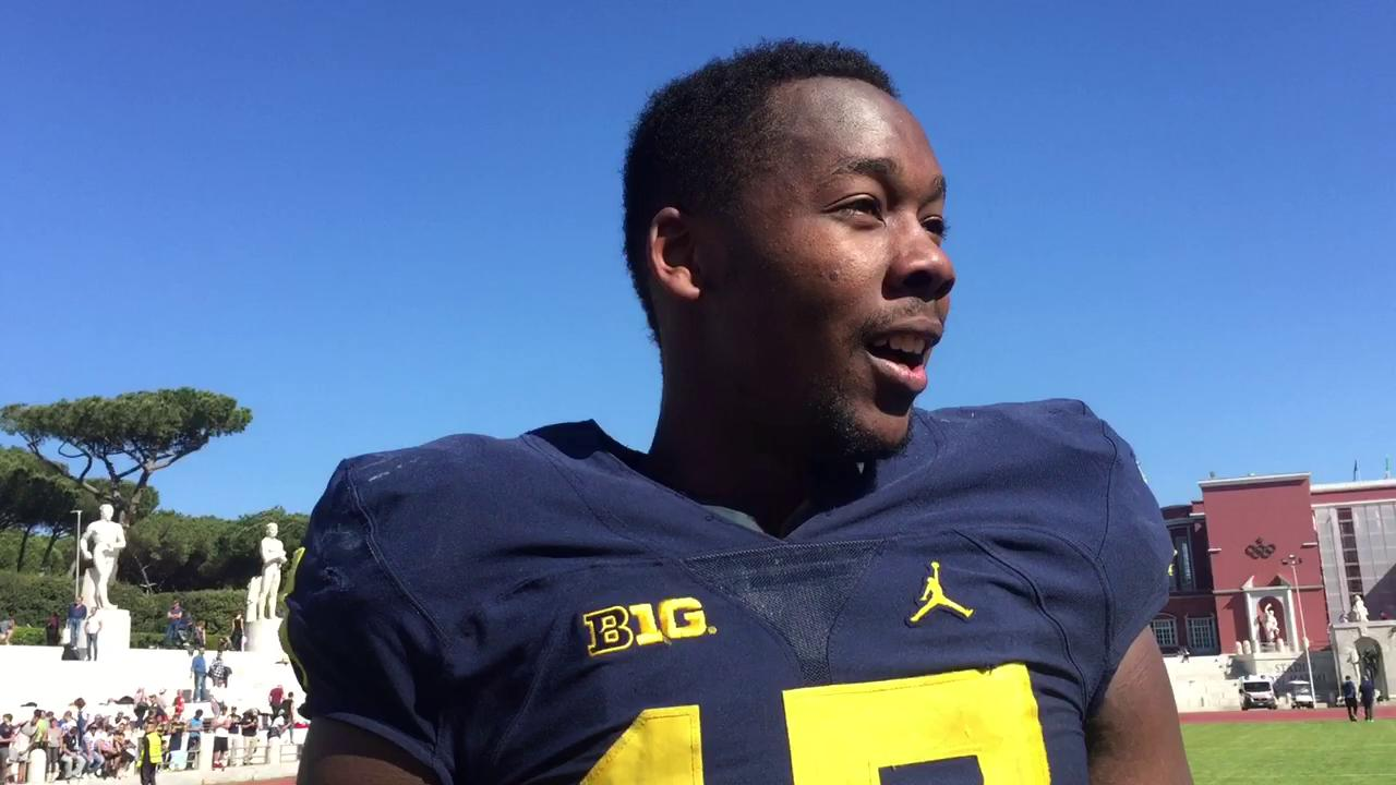 Michigan tight end Tyrone Wheatley Jr. discusses the state of his game.