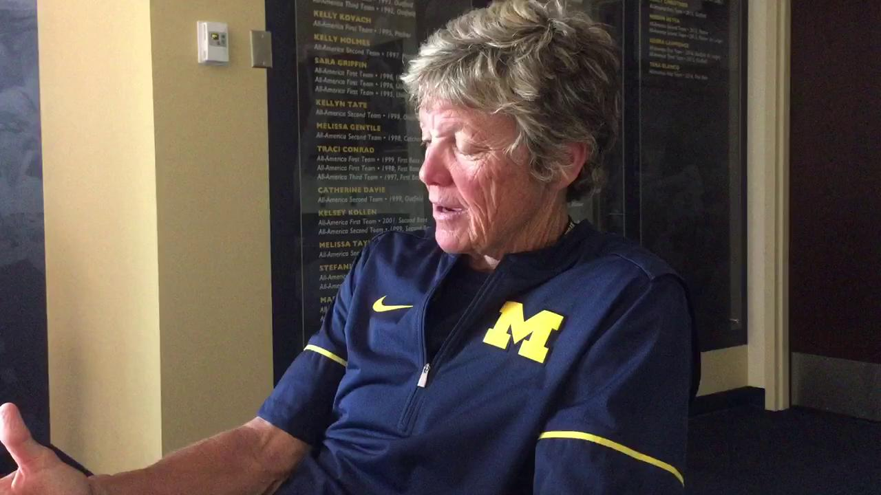 Hutchins discusses the softball team's meeting Sunday