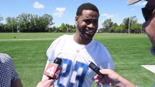 The Lions' Matt Asiata on offense, rookie Kenny Golladay on veterans, Nate Lawson on his improvement and Darius Slay on Kobe vs. LeBron