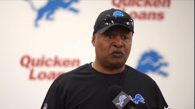 Lions coach Jim Caldwell on the first day of OTAs
