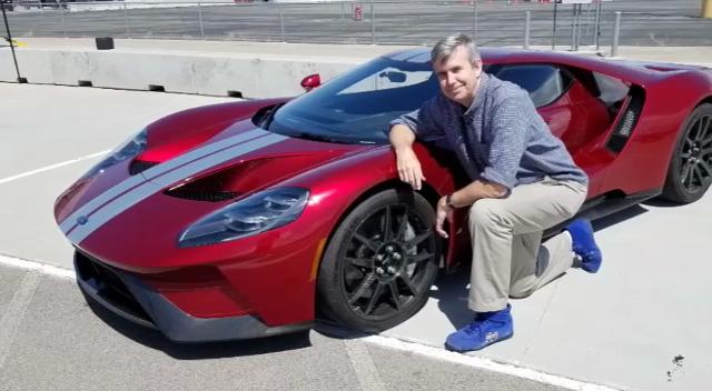 """Payne drives the """"most anticipated chariot of 2017,"""" the Ford GT production model."""