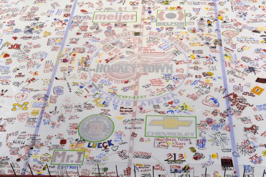 Timelapse video of \'Paint the Ice\' event at Joe Louis Arena
