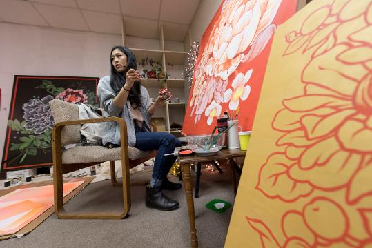 Mural artist is preparing for her show at Inner State gallery