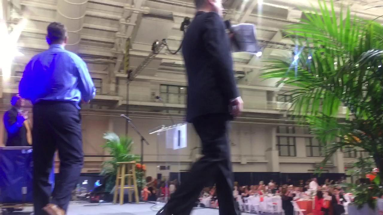 Jim Harbaugh threw footballs for ChadTough Foundation donations, including one to  his mom, Jackie.