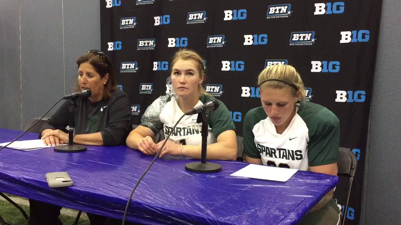 Jacquie Joseph discusses her team's 4-3 loss to OSU in the Big Ten semifinals.