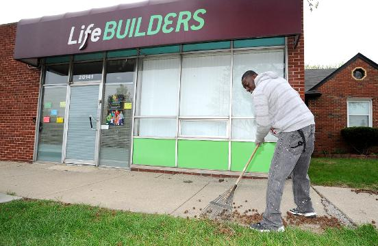 A LifeBUILDERS executive and employee talk about their home rehab work in the Detroit