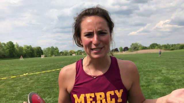 F.H. Mercy senior Katie Coe at the Catholic League track finals