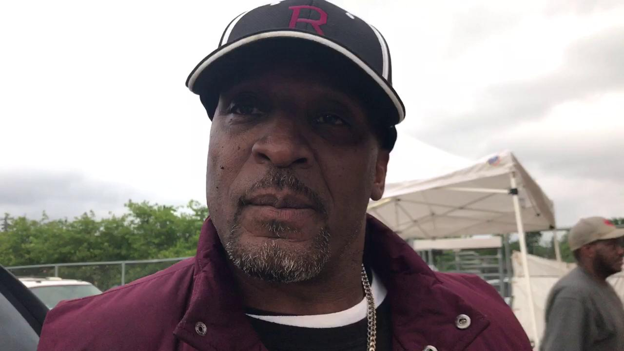 Detroit Renaissance girls track coach Darnell Hall, also a 1992 Olympic gold medalist, on Renaissance's girls winning the 2017 PSL championship