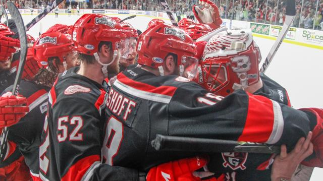 The Grand Rapids Griffins, behind goaltender Jared Coreau, beat the San Jose Barracuda 4-2 Saturday to take a 4-1 series win and advance to the AHL's Calder Cup Championship Final against Syracuse.
