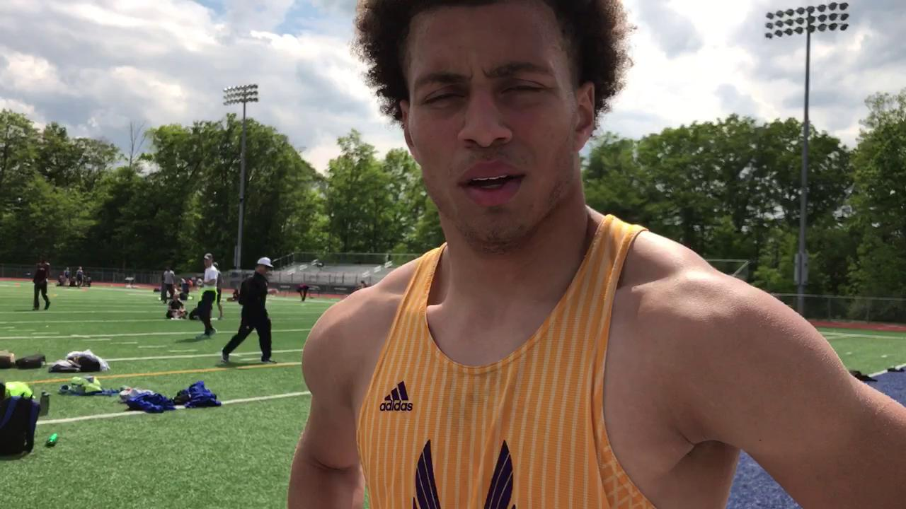De La Salle senior Allen Stritzinger on redeeming himself in the 110 meter hurdles on Tuesday in the Catholic League A-B track finals at Detroit Catholic Central.