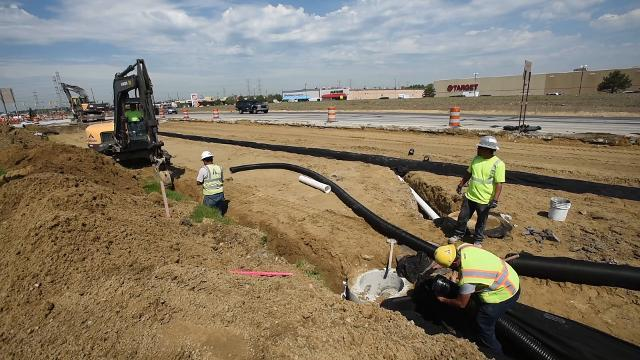 Construction continues on M-59