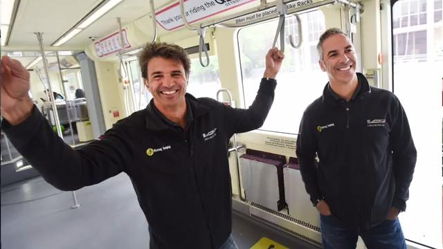 Racing soon in the Chevrolet Detroit Grand Prix, drivers Christian Fittipaldi and Joao Barbosa take a ride on the QLine and talk about the changes they've seen in downtown Detroit.