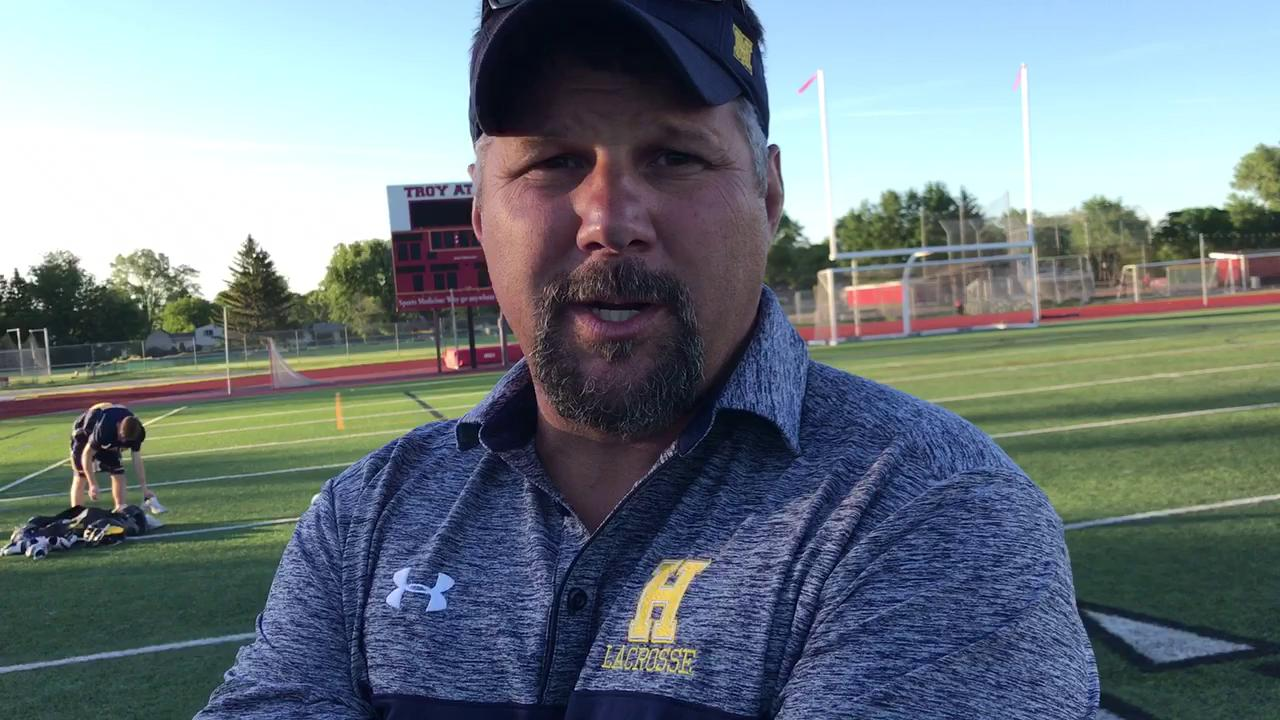 Hartland boys lacrosse coach Garnet Potter III on Wednesday's 12-11 overtime loss to Detroit Catholic Central in a Division 1 semifinal at Troy Athens