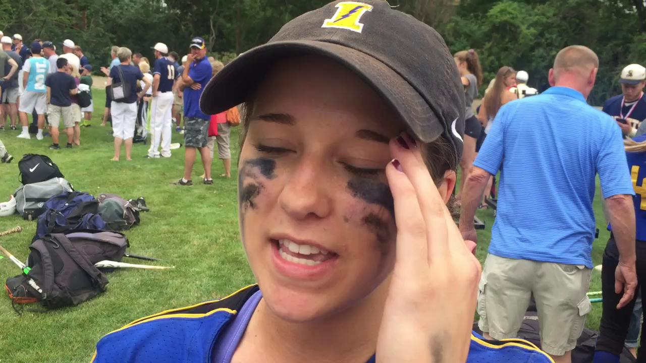 Ida senior Brooklyn Woelmer on her team's dramatic comeback victory.