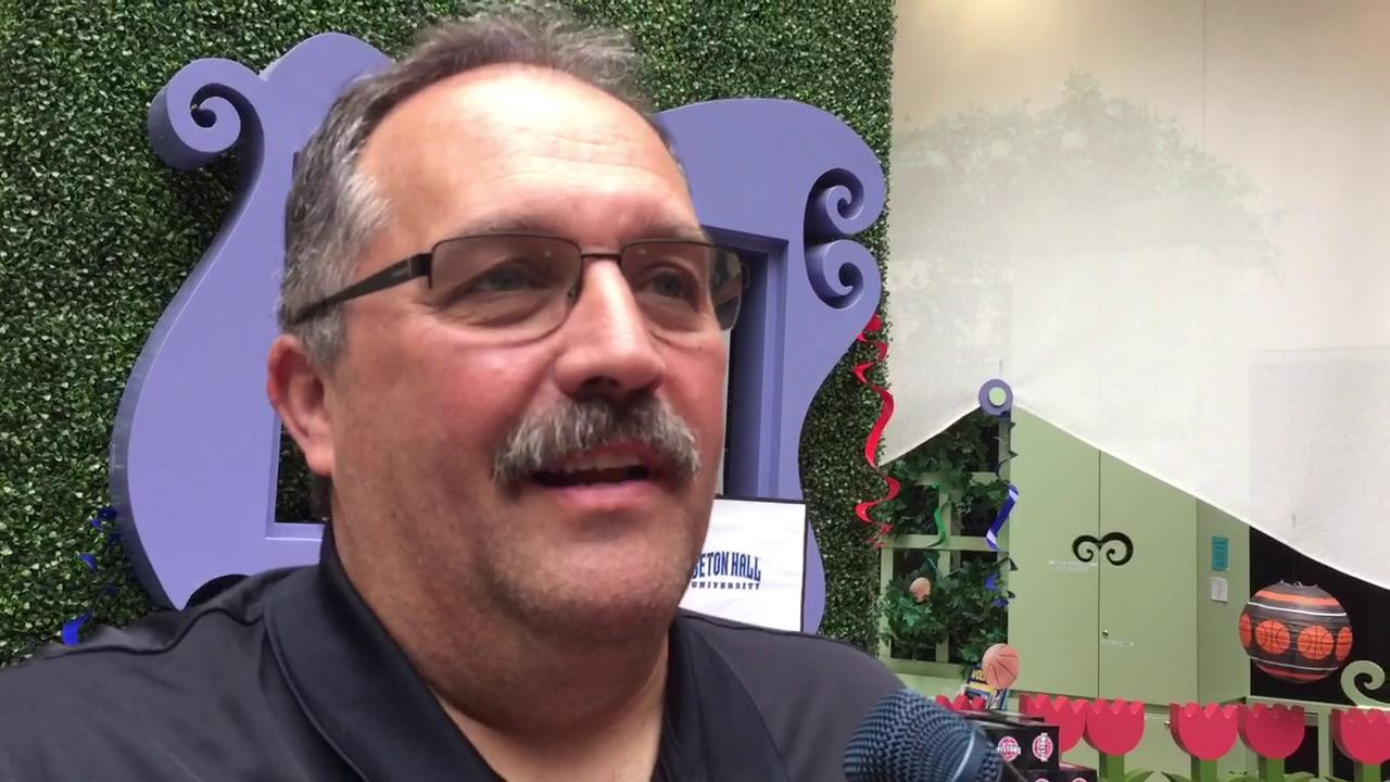Pistons coach Stan Van Gundy met the media Monday at a charity event in Royal Oak, and he couldn't stop gushing about his rescue dog, Eastwood.