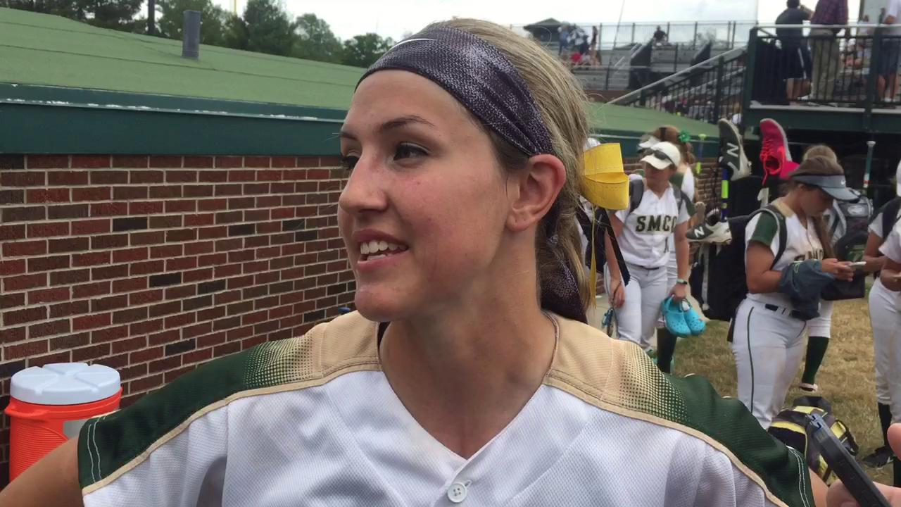 Pitcher Meghan Beaubien and Monroe St. Mary are going for a third state title after beating Shepherd 1-0.