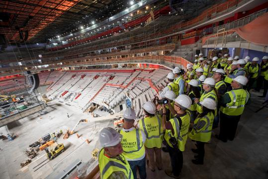 Take a tour inside Little Caesars Arena