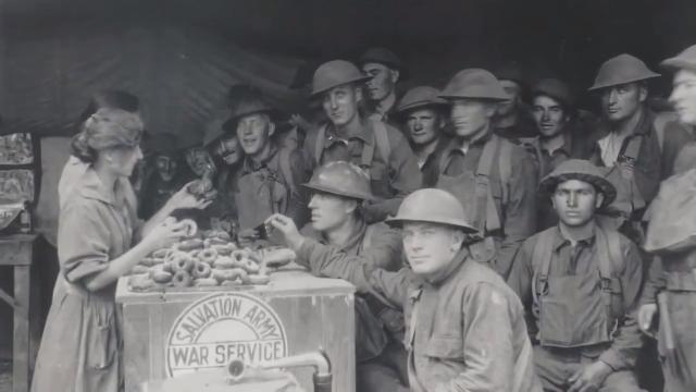 "During World War I, ""Donut Girls"" from the Salvation Army braved fire to serve donuts to soldiers in trenches.  The Salvation Army of Metro Detroit hosted a ceremony June 2 in Eastpointe to remember them."