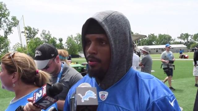 Players give their impressions as the Detroit Lions' full team takes to the practice field for the first day of training camp, Tuesday, June 13, 2017, in Allen Park.