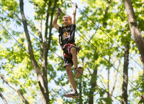 Zip lines, rope challenges, and aerial fun amongst the trees