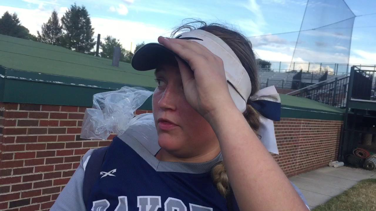 Dakota pitcher Kendahl Dunford on Dakota's 6-3 win over Mattawan.