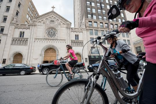 Over 200 riders toured five different churches in Detroit for an afternoon of history and exercise.