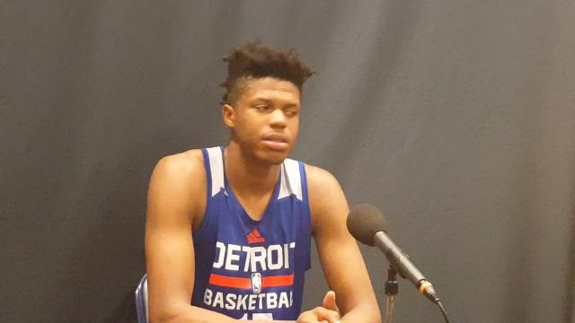 Justin Patton on his workout for the Pistons