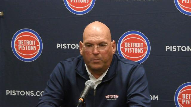 The Pistons' head coach and general manager talk about what they look for in a draft prospect.